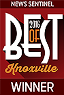 News Sentinel 2016 Best of Knoxville Winner